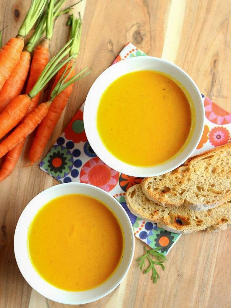 Karottensuppe als Rezepte zum Abnehmen lecker und schnell gemacht