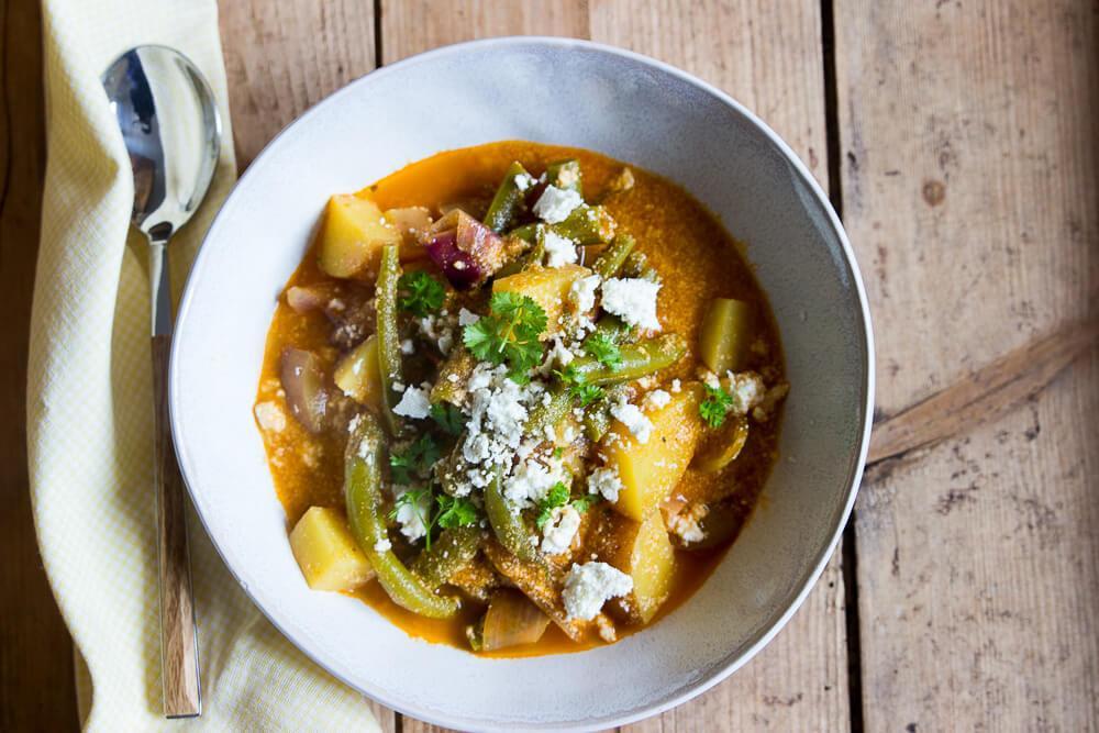 Erdnuss-Kartoffel-Curry als vollwertiges Mittagessen